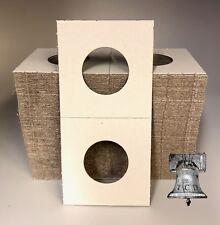 100 2x2 STANDING LIBERTY Quarter Mylar Paper Coin Holder Flip BCW Case 24.3mm