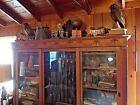 Antique Gun Cabinet With Matching Wall Shelf