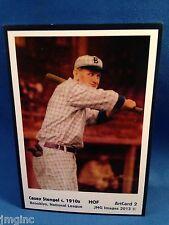Casey Stengel, Brooklyn, ArtCard #2 - Baseball card of HOF player c.1910s