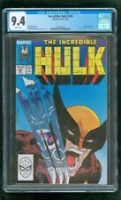 CGC 9.4 INCREDIBLE HULK #340 MARVEL COMICS 2/1988 VS. WOLVERINE X-MEN LEADER