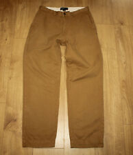 Brown Cotton POLO RALPH LAUREN Zip Tapered Casual Trousers Jeans Size 32 L 30