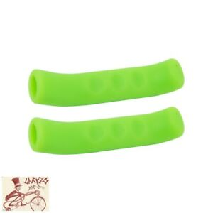 MILES WIDE STICKY FINGERS 2.0 GREEN BRAKE LEVER GRIPS--ONE PAIR