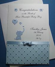 Personalised New Baby Congratulations Birth Card Boy Girl