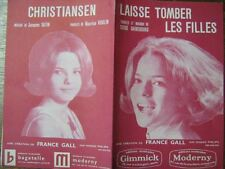 PARTITION MUSICALE BELGE FRANCE GALL LAISSE TOMBER