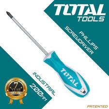 Total Tools - Phillips Screwdriver Magnetic Tip - Long Reach Soft Grip Cv Shaft
