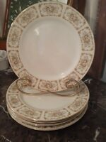 5 Vintage Dinner Plates Happy Home Fine China Elegance Pattern