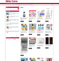 SKIN CARE UK WEBSITE WITH 1 YEARS HOSTING - ECOMMERCE EASY HOME BUSINESS