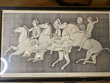 Large Vintage Ink Drawing 1976 Signed Framed Glass Cover 21 X 13 By Geo W Moxon
