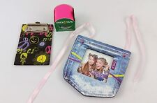 NEW Teen Denim Photo Frame, Clip Board & Hot Pink Duck Tape - School Gift Set