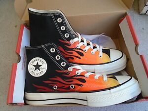 New Converse Chuck 70 Hi top 'Archival Flame Print' Shoes Men's sz 8