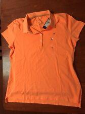 Tommy Hilfiger 👚NEW 🍊 Orange Pop Heritage Polo 👚 Top Fits Size XL