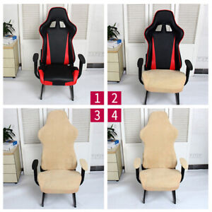 Computer Stretch Swivel Gaming Chair Slipcover Polyester Cloth Armrest Cover