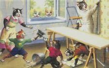 K7 79 Alfred Mainzer Dressed Cats Postcard Alma # 4872