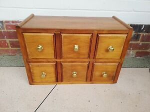 Apothecary Haberdashery Drawers Chest Cabinet Wood solid Heavy