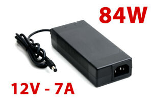 NEW AC DC Adapter 84W 12V 7A for Mini ITX Computers, LCD/LED Monitors, laptops