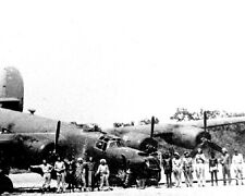 "Crash landed B-24 Liberator Bomber Shady Lady 8""x 10"" World War II WW2 Photo 586"