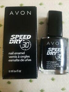 "AVON Speed Dry 12 ml. 0.4 fl. oz. Nail Enamel Polish, Rapid ""BLACK"" NEW in Box"