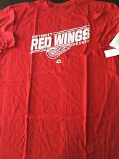 New Majestic Detroit Red Wings Big and Tall Logo T Shirt 4XL 4X XXXXL Red