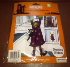 """Crashed Witch Halloween Hanging Decoration 60"""" tall"""