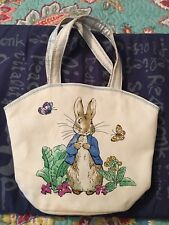 Peter Rabbit Canvas Small Hand Bag Tote Purse Ivory Barnes & Noble