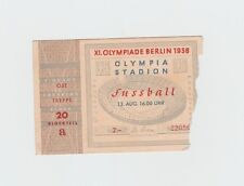 Orig. Ticket Olympic Games Berlin 1936 Football 3. Space Norway-Poland