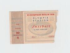 Orig.Ticket   Olympische Spiele BERLIN 1936  FUSSBALL  3.Platz  NORWEGEN - POLEN