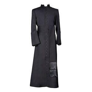Clergy Cassock- Custom Made black cassock for mens