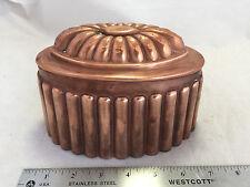 Vintage Antique A.T.C 780 English Jelly Jello Pudding Cake Shape Mold Copper