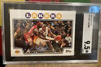 2008-09 Kobe Bryant/Lebron James Topps #24 Iconic Card/SGC 9.5 MINT+New Slab!