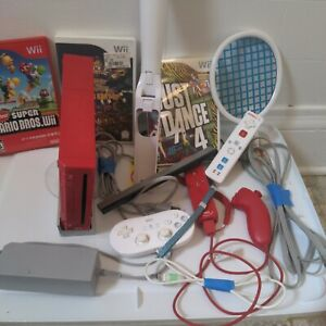 Nintendo Wii Red Console Awesome Bundle