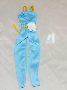 Mint Vintage Barbie Montgomery Wards Exclusive Light blue SUPERSTAR jumpsuit