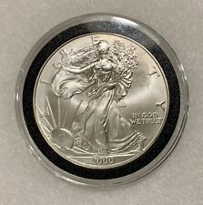 2000 US Silver American Eagle One Dollar Coin Uncirculated in  hard plastic case