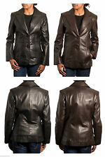 Leather Button Coats & Jackets for Women Blazer