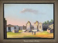 SCUOLA Italiana, Tempio di Iside, Pompei – inizio 19th-secolo a guazzo dal Vedutismo