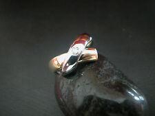 Erstklassiger Gelb-Weißgold-Brillant-Ring (585) BR: 0,05ct.7,2gr. Top Zustand!