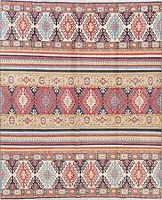 New Pakistan Chechen-Kazak Hand-Knotted Geometric Oriental Area Rug 8x10 Wool