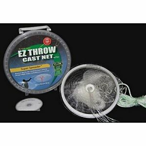 Fitec EZ Throw 750 Cast Net 4ft 3/8' mesh Clear 3/4 Lb wts.