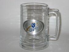 Kansas City Royals 15 ounce Glass Tankard Mug with Pewter Logo