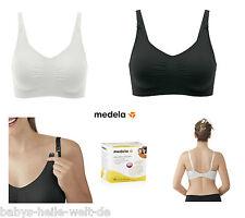 2 Nursing Bra Ultra Soft Medela Black+White +30 Nursing Pads