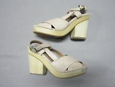 GEE WAWA ANTHROPOLOGIE WOMENS PINK LEATHER PAIGE CLOGS HEELS SHOES SIZE 6 NEW