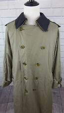 Vintage Classic Burberry Beige Prorsum Trench Coat w/ Removable Wool Liner 42 R