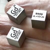 10mm 99,99% Gadolinium Metall Würfel geschnitzt Element Periodensystem