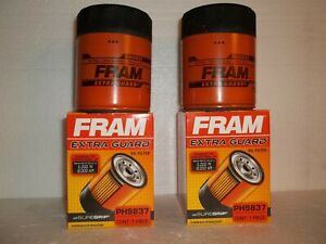 (2) FRAM PH9837 Extra Guard Engine Oil Filter's Spin On with SUREGRIP (2 pack)