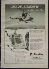 1972 Rotorway Scorpion Too Helicopter original vintage AD