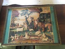 STUNNING VINTAGE ANIMALS & PEOPLE IN HARMONY  Fine Art Print