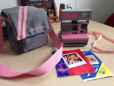 Polaroid PINK Cool Cam 600 Instant Film Camera w/ Case & Manual TESTED