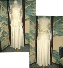 100% Silk Calvin Klein Collection Bias Skirt & Top Set Usa Wedding Bridal S