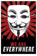 V For Vendetta We Are Everywhere Poster 24x36
