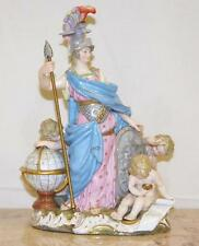German Meissen Porcelain Female group 'Allegory of war' Minerva circa 1880s