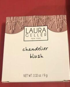Laura Geller Chandelier Blush Pink Shimmer BLUSHER in Chandelier Glow 9g